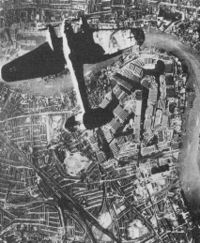 German Bomber over London, 1941